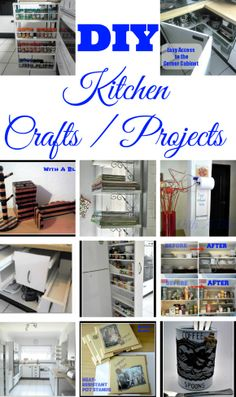 Projects / Crafts for the Kitchen ! #Storage #Cabinets #Organizing