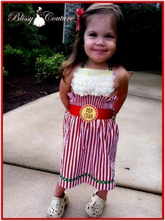 Bucket of Popcorn Dress for Pageant Halloween Costume Party and More. $45.00, via Etsy.