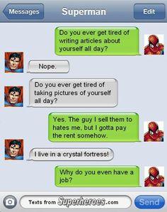 Super Hero Texts Messages 2/6