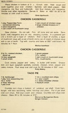Depression With Dementia Key: 4601193439 Retro Recipes, Old Recipes, Vintage Recipes, Cookbook Recipes, Mexican Food Recipes, Turkey Recipes, Meat Recipes, Chicken Recipes, Cooking Recipes