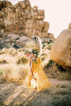 Boho engagement shoot in Joshua Tree | Wedding & Party Ideas | 100 Layer Cake
