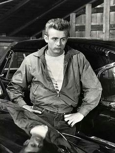 James Dean on set of Rebel Without A Cause.