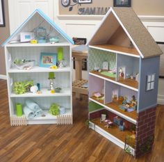 Dollhouse out of bookshelf