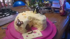 een kaas met muizen fondant taart