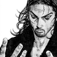 Manga Art, Manga Anime, Vagabond Manga, Captain Hook, Blackwork, 2d, Sketches, Draw, Reading