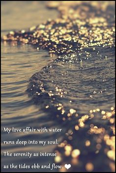 """""""My love affair with water runs deep into my soul. The serenity as intense as the tides ebb and flow."""" by Brandi Fitzgerald"""