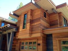 Cedar Hardie Board - This is a cement-board, made to look like cedar. No maintenance, and it lasts forever.