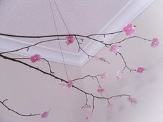 cherry blossom mobile hand-crafted of all natural materials
