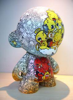 Heaven & Hell Mega Munny by Podgy Panda, aka Richard Kuoch, CreativeMornings/Auckland speaker. Watch his talk. → http://bit.ly/QZrV2C
