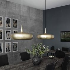 Clava Dine Pendant Light clava dine brushed brass pendant light The post Clava Dine Pendant Light appeared first on Esstisch ideen. Decor, Dining Room Lamps, Room Lights, Lights Over Dining Table, Kitchen Lighting Over Table, Brass Pendant Light, Pendant Lamp Shade, Home Decor, House Interior
