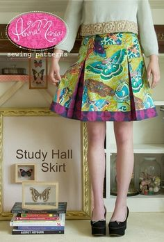 Study Hall Skirt, this is the pattern for the skirt in the previous pin.
