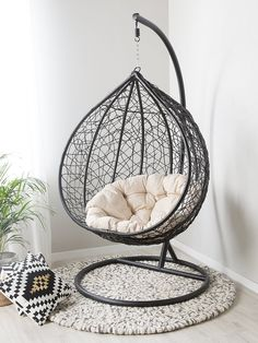 Indoor Hanging Chair with Stand . Indoor Hanging Chair with Stand . Hanging Chair Apartment Corner Home Decor Swing Chair For Bedroom, Hammock Chair Stand, Hanging Chair With Stand, Swinging Chair, Diy Hammock, Patio Chair Cushions, Slipcovers For Chairs, Hanging Papasan Chair, Plastic Rocking Chair