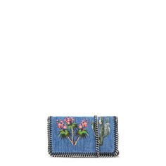 fbac12e9ebe Shop the Falabella Denim Embroidered Cross Body Bag by Stella Mccartney at  the official online store.