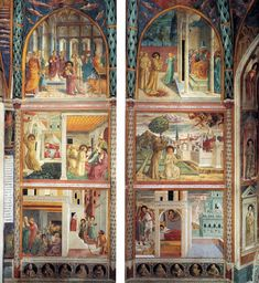 Scenes from the Life of St. Francis (north wall) - Benozzo Gozzoli