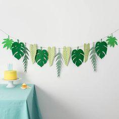 Tropical Garland  Greenery Garland  Tropical Party Idea