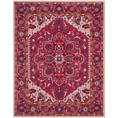 Safavieh Bellagio Handmade Bohemian Red/ Pink Wool Rug (6' x 9') - 19978589 - Overstock - Great Deals on Safavieh 5x8 - 6x9 Rugs - Mobile