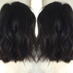 Fresh chop inspired by Jenna Dewan Tatum!! Choppy texture and rich dark color