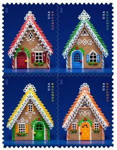 U.S. Postal Service launches Gingerbread Houses Forever stamps