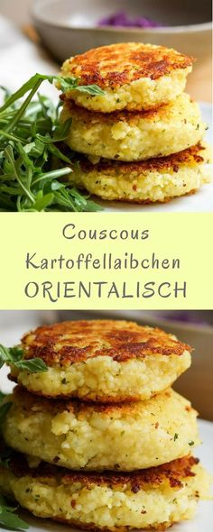 Couscous potato fritters Kartoffellaibchen: a recipe for children with oriental flavor! The post Couscous potato fritters appeared first on Garden ideas - Health and fitness Healthy Chicken Recipes, Veggie Recipes, Baby Food Recipes, Healthy Dinner Recipes, Vegetarian Recipes, Potato Recipes, Recipe Chicken, Avocado Recipes, Veggie Food