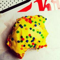 Nom Nom Nom, Birthday Cake Batter doughnut!