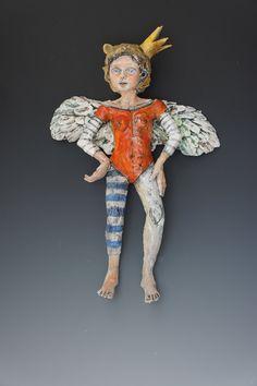 Bandita ceramic wall sculpture by ceramic artist Victoria Rose Martin. $425.00, via Etsy.