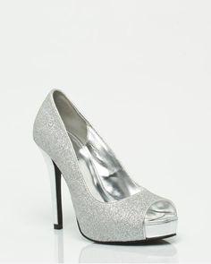 Grad Shoe - Le Château: Glitter Peep Toe