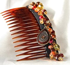 Rock on Hair Comb by DesignDonnaLee on Etsy, $20.00