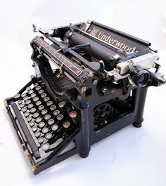 COMMERCE: 1915 Underwood typewriter. Rapid development occurred before such a model and certainly more improvements were to come. An improvement to the ease and fatigue of using the keys came within 5 years.