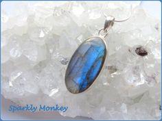 Labradorite Sterling Silver Pendant Necklace by SparklyMonkeyCo
