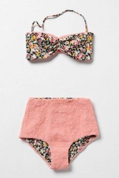 Pink bathing suit.