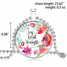 Christian Necklace Religious Bible Verse Gift Jewelry Cooling Mattress, Lord Is My Strength, Joy Of The Lord, Religious Jewelry, Jewelry Gifts, Bible Verses, Christian, Christians, Scripture Verses