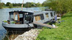 Very very spacious widebeam liveaboard cruising houseboat near London | eBay