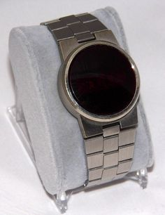 Vintage Gillette Reflex Men's Red LED Digital Wrist Watch, Original Band, Circa 1970s