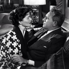 Kathryn Hepburn and Spencer Tracey in Adams Rib (1949)...one of my favorite scenes/stills
