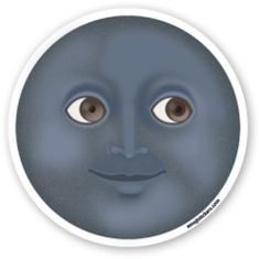 New Moon with Face | Emoji Stickers
