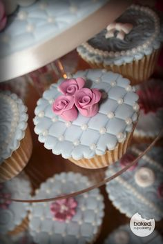 pink lace icing cupcakes roses something blue vintage gum paste royal icing mauve cream peals Vintage Wedding Cupcakes, Fancy Cupcakes, Pretty Cupcakes, Wedding Cakes With Cupcakes, Yummy Cupcakes, Vintage Cupcake, Cupcake Favors, Cupcake Icing, Baking Cupcakes