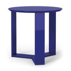 Markel Modern Blue End Table