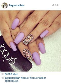 matte pastel purple or lavender