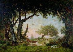 Руссо, Пьер-Этьен-Теодор (1812 Париж - 1867 Барбизон)  --  Опушка леса в Фонтенбло. 1850.  Лувр. Париж