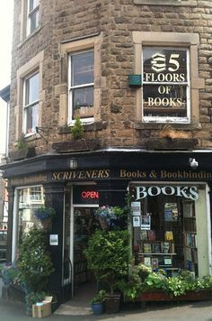 Scrivener's Books, Buxton - With five floors of books, this is a bibliophile's dream. And what's more, there are cosy sofas, and tea-making facilities. Wonderful.