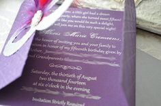 Mardi Gras masquerade mask invitation cards with beads at