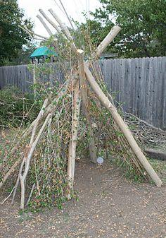 branch teepee