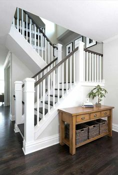 35 Inspiring Farmhouse Staircase Ideas for You Stairs Makeover FARMHOUSE ideas I. 35 Inspiring Farmhouse Staircase Ideas for You Stairs Makeover FARMHOUSE ideas Inspiring Staircase makeover farmhouse Interior Stair Railing, Staircase Railings, Staircase Design, Staircase Ideas, Banisters, Painted Staircases, White Staircase, Rustic Staircase, Stair Case Railing Ideas