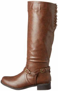 XOXO Women's Marni Riding Boot Brown