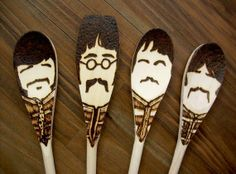Sgt. Pepper wooden spoons