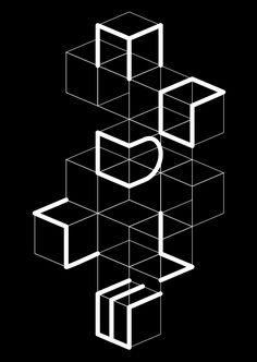 Mod4 Inspiration Typographie, Typography Inspiration, Graphic Design Inspiration, Isometric Art, Isometric Design, Web Design, Design Art, Posters Conception Graphique, Branding Design
