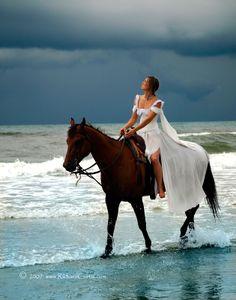 Looking for Answers - Model: Crystal Mayze, Location: Ocracoke Island, NC, Date of Photo: July Copyright 2007 RichardCurtis, Jr. Horse Girl Photography, Autumn Photography, Pretty Horses, Beautiful Horses, Cavalo Wallpaper, Ocracoke Island, Horse Wedding, Mark Twain, Great Pic