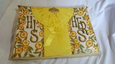 Vintage His And Her's Yellow Towel Set By Lila Lou