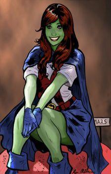 By DoctorPretorius (DC Comics - Miss Martian) Superboy And Miss Martian, The Martian, Young Justice, Dc Comics Characters, Female Characters, Marvel Dc, Marvel Comics, Detective, Dc Comics Women