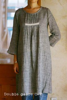 GREY linen dress.*HEART*